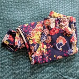 Faded Glory Pants - Colorful Floral Jeggings